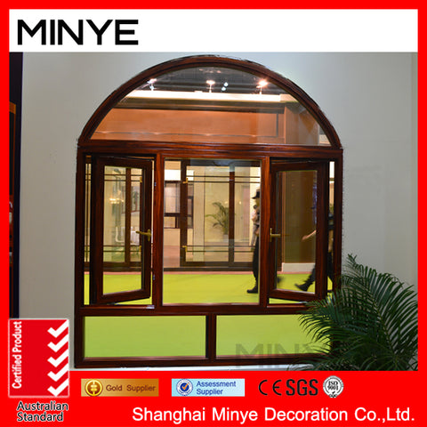 Russian Style Vinyl Bay window/garden style UPVC frame casement windows on China WDMA
