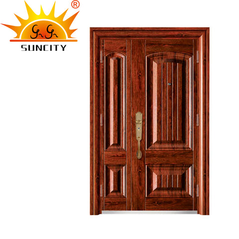 SC-S158 Latest Exterior metal doors residential,flat safety door designs on China WDMA