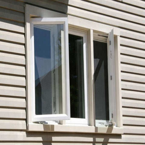 Safety aluminum frame glass windows,french casement window on China WDMA