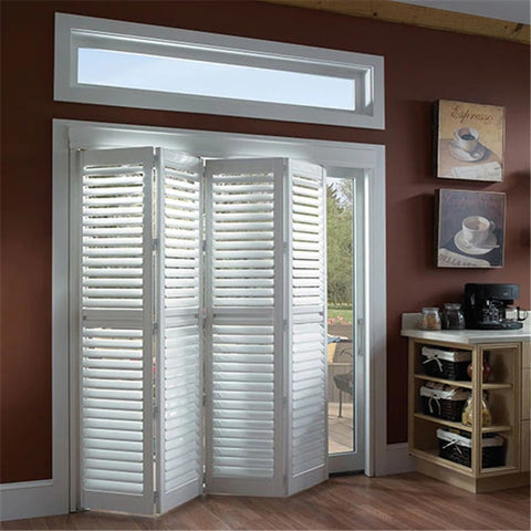 Screen Lowes Pine Bifold Shutter Doors Louvered Pocket Doors Aluminum Louver Folding Door on China WDMA