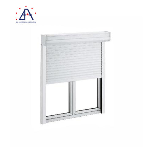 Secure roller aluminum shutter window with shutter on China WDMA