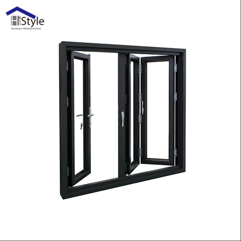 Shanghai bifold patio doors aluminium accordion doors/ aluminium folding door comply with AS2047 for sale on China WDMA