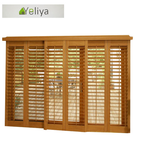 Shutters on sliding Glass doors on China WDMA