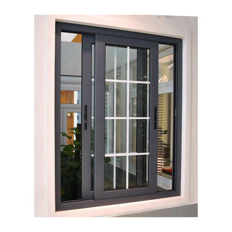 Simple iron windows grills design modern house aluminum sliding window on China WDMA