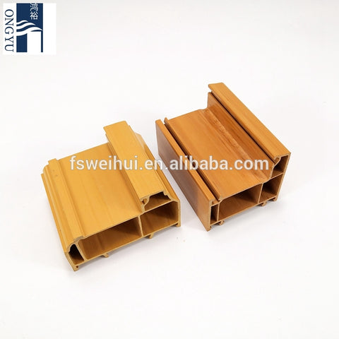 Single Glass 80 Series 65 Best Wood Grain Thermal Insulation 60mm Width White Color Superior Lg Upvc Window Profile