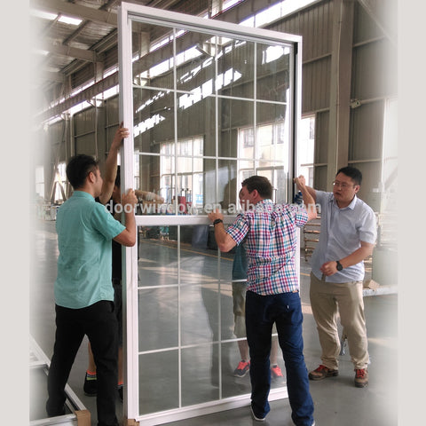 Single hung window sliding window with thermal break aluminum and white color on China WDMA