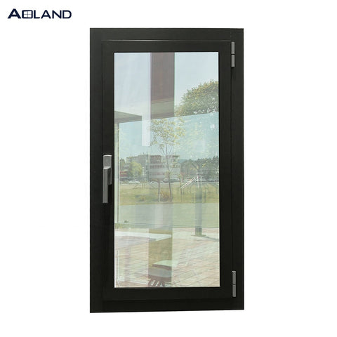 Single panel aluminum double glass sound insulation casement window on China WDMA
