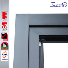 Single side door pull handle glass aluminium folding sliding patio door system on China WDMA