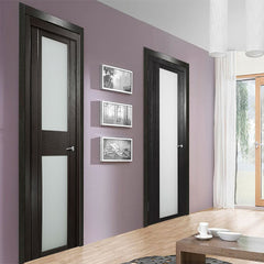 Single swing low cost interior glass french doors on China WDMA