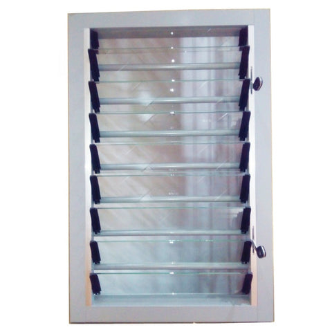 Single tempered glass residential bathroom louver windows adjustable window shutter