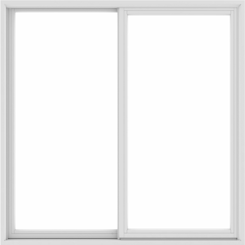 60x60 59.5x59.5 White Vinyl Sliding Window