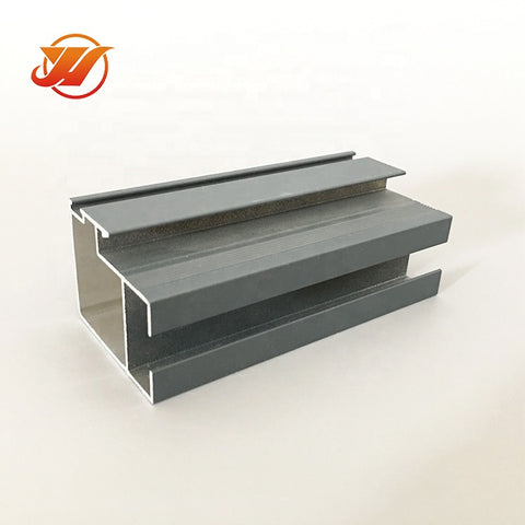 Sliding door \/ window top and bottom channel vertical track sections wardrobe sliding door profile aluminum on China WDMA