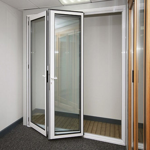 Sliding folding aluminium doors with 2mm thick profile design on China WDMA