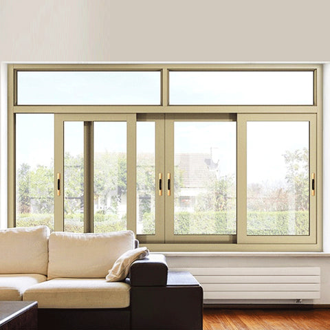 Sliding security aluminum double glazed windows door on China WDMA