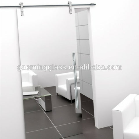 Sliding single barn mirror glass door on China WDMA