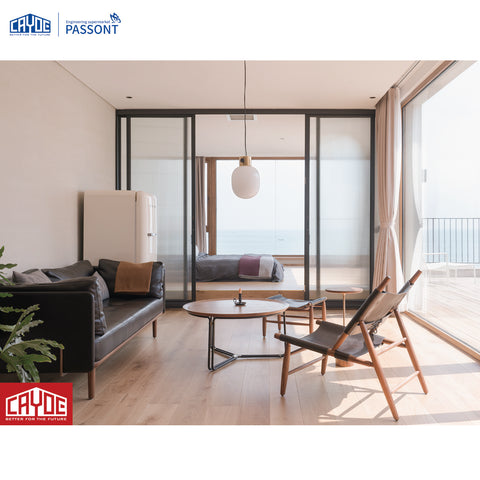 Slim frame aluminum sliding patio glass door philippines price and design on China WDMA