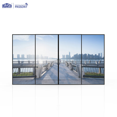 Slim frame double glass sliding door aluminium patio door exterior door on China WDMA