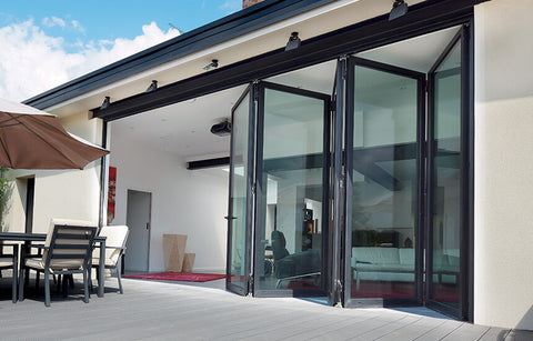 Slim series aluminium sliding folding patio door on China WDMA