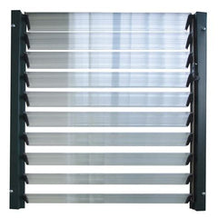 Sound Insulation Fixed Louver Windows Vertical Louver Window With Tempered Glass