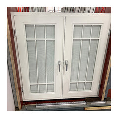 Sound proof aluminium casement windows design with inbuilt blinds on China WDMA