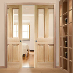 Soundproof Sliding Solid Wood Glass Interior Lowes Fire Rated Cavity Pocket Door on China WDMA