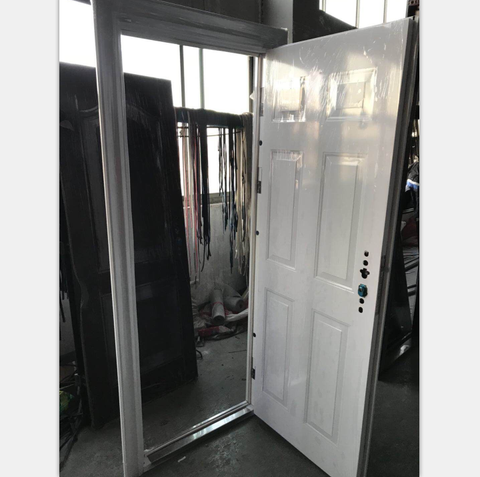 Soundproof Steel Security Door Double Glazing Glass Doors with Built-in Blinds Used Exterior French Doors For Sale on China WDMA