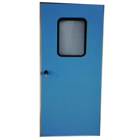 Soundproof door push-pull steel stainless steel clean room door can be customized to a variety of specifications on China WDMA