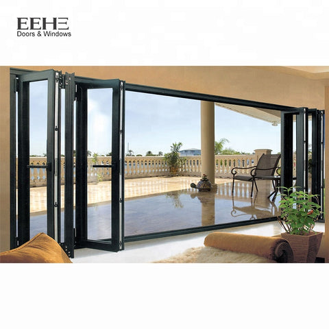 Space-saving Aluminium Exterior Panel Door Folding on China WDMA