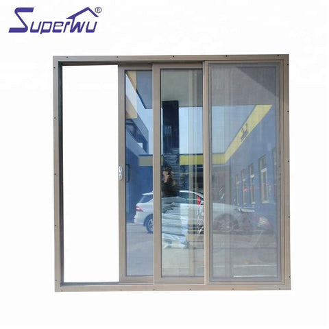 Special Style Double Track Powder Coated Bedroom Aluminum Sliding Door on China WDMA