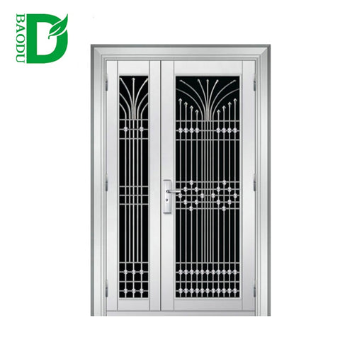 Stainless Steel Storm Security design Doors Exterior Double Door on China WDMA