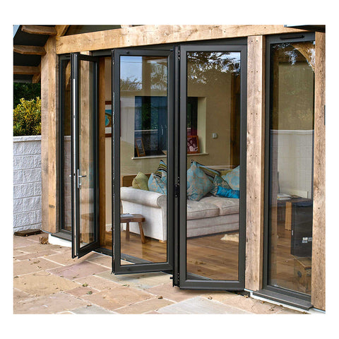 Standard Patio Aluminum Frame Glass Stack Bifold Doors Sliding Doors Hardware on China WDMA