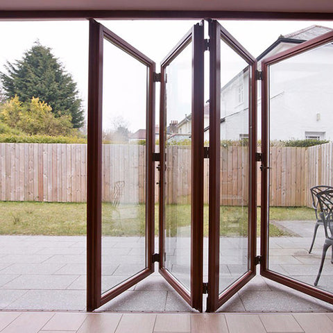 Standard Size French Style Double Glazing Aluminium Bifold Door on China WDMA