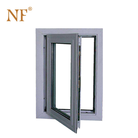 Strong Aluminum frame double glazing single pane casement window on China WDMA
