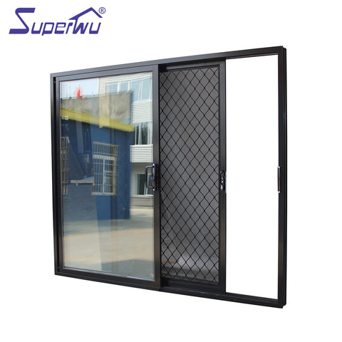 Strong Quality standard aluminum burglar proof sliding glass doors on China WDMA