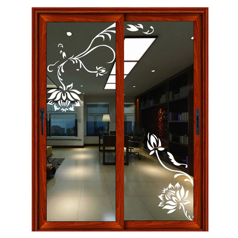 Stylish interior kitchen aluminum sliding glass door with blinds on China WDMA