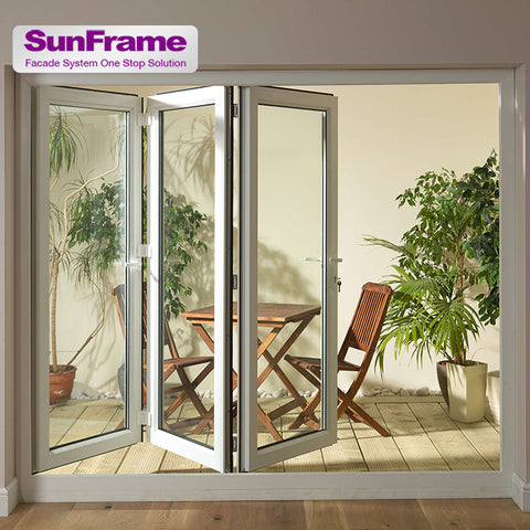 Sun Frame good looking frame glass sliding folding French terrace door with aluminum profile on China WDMA