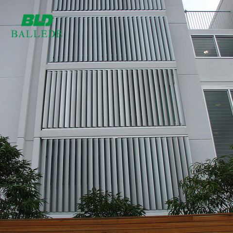 Sun shade aerofoil fixed facades window aluminium louver panel/aluminium louvered on China WDMA
