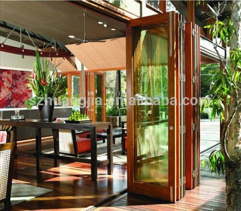 Super quality Built in Blinds/Shutter Double/Triple Glazed aluminum decorative accordion door on China WDMA