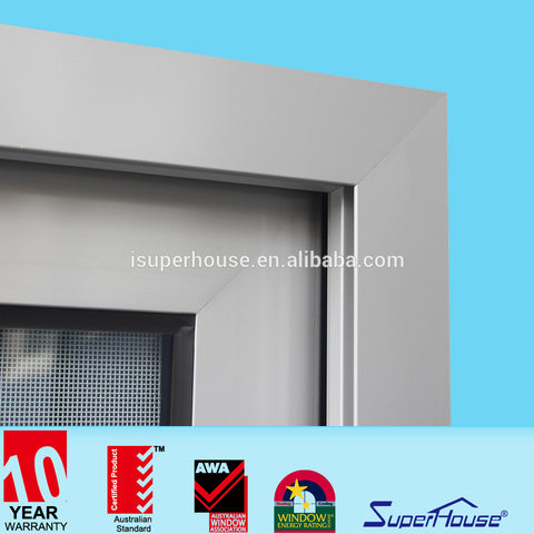 Superhouse AS2047 standard 4panel sliding window tinted glass aluminum window and doors on China WDMA