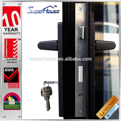 Superhouse AS2047 standard double glazing cheap folding interior doors prices on China WDMA