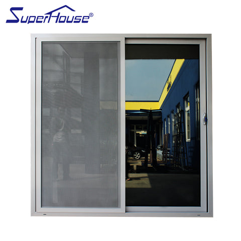 Superhouse NFRC Australia standard AS2047 aluminium frame bathroom sliding glass door on China WDMA