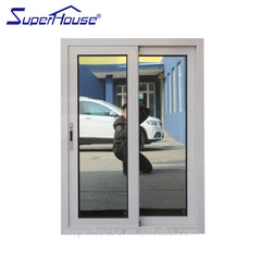 Superhouse aluminium frame sliding glass window aluminum with security mesh