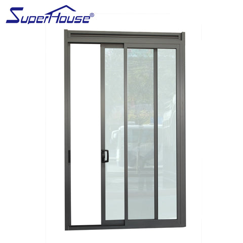 Superhouse aluminium frame unbreakable glass door slide with low price on China WDMA