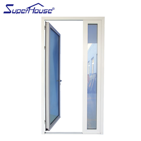 Superhouse fiberglass french doors aluminium bedroom one way glass door with AS2047 on China WDMA