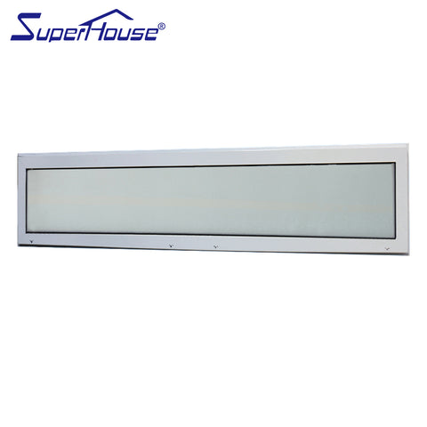 Superhouse new design aluminum fixed clear glass windows with built in blinds on China WDMA