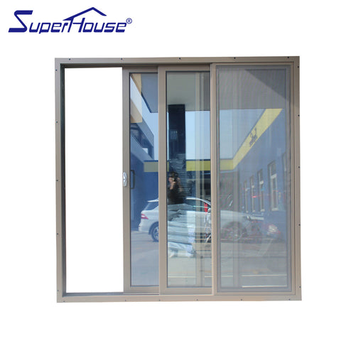Superhouse outdoor aluminium triple sliding door stained glass sliding doors on China WDMA