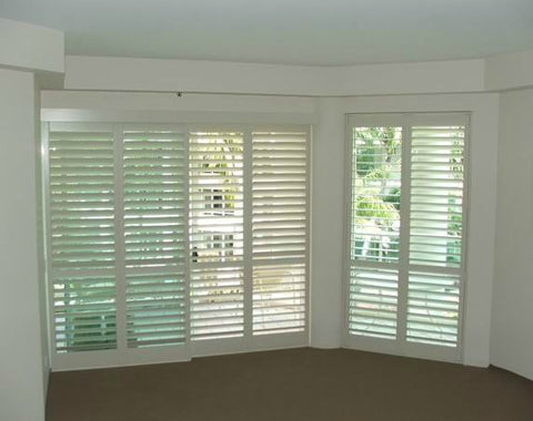 Superior Quality with Low Price Custom Made Bi-Fold Home Depot Plantation Shutters For Sliding Glass Door on China WDMA