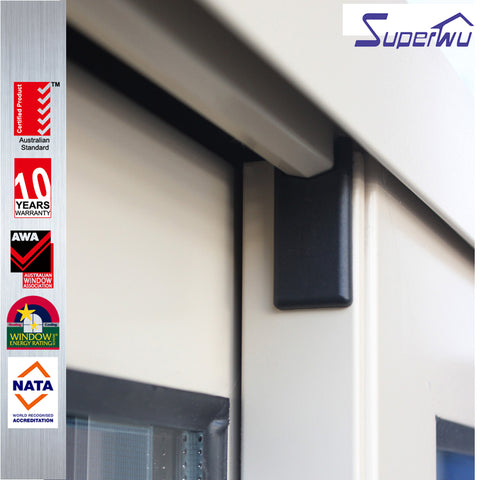 Superwu 12mm aluminium frame sliding glass window sliding and swing window myanmar aluminum sliding window on China WDMA