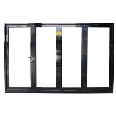 Superwu Australian Standard AS2047 AS/NZS2208 AS1288 aluminum exterior glass folding door on China WDMA