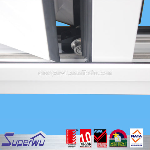 Superwu Australian standard powder coated frameless folding glass window design balcony folding window on China WDMA